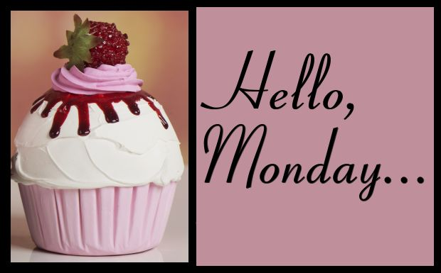 Hello Monday--cupcake with berry