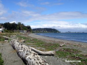 The beach at Port Townsend