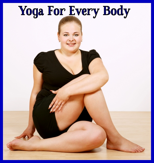 Curvy woman doing yoga