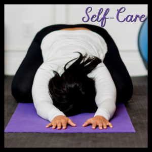 self-care yoga pose