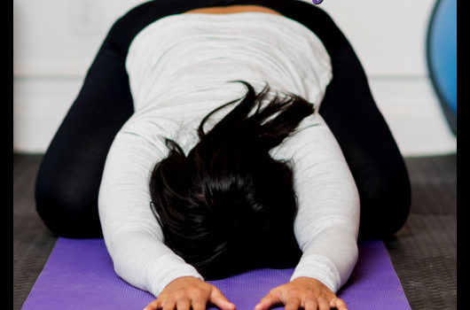 self-care yoga pose