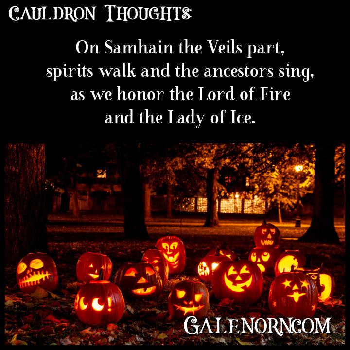 Rows of brilliant jack o' lanterns in the dark