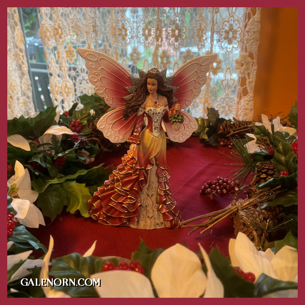 Valentine's Faerie with pink and red wings