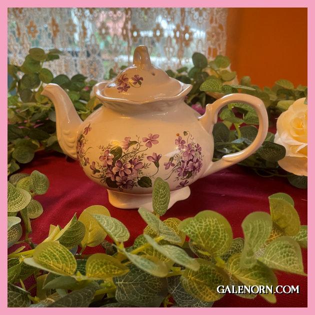 Violets --Teapot