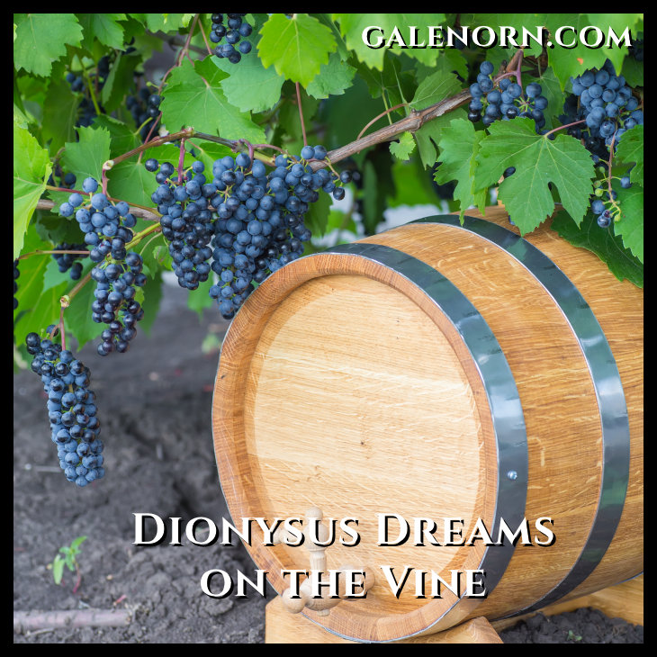 grapes on the vine and a keg